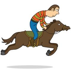 Horse riding vector image