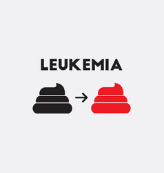 Human feces various symptoms of leukemia vector