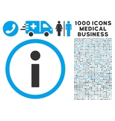 Info Icon with 1000 Medical Business Symbols vector image