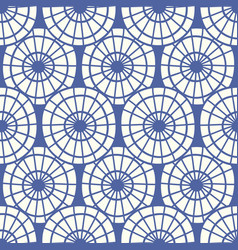 Japanese chinese traditional asian blue pattern vector