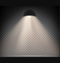 lamp with warm light on a transparent vector image