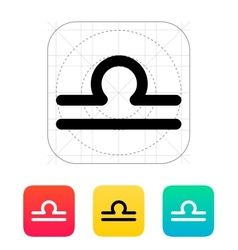 Libra zodiac icon vector image