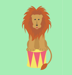 Lion on the drum vector