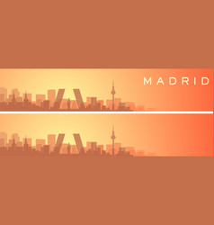 madrid beautiful skyline scenery banner vector image