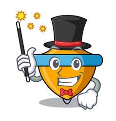 Magician spinning top mascot cartoon vector