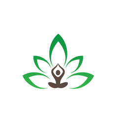 meditation or spa leaf logo image vector image vector image