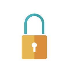 padlock security protect privacy symbol vector image