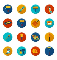 Painting icons colored vector