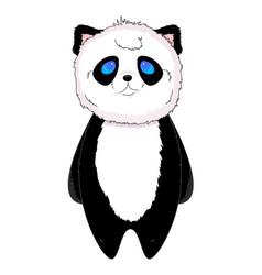 panda kawaii standing vector image