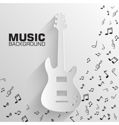 Paper electro guitar background concept tam vector