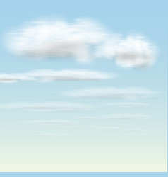 realistic clouds vector image