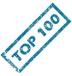 Rubber stamp TOP 100 vector image