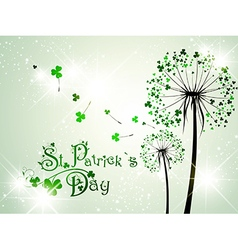Saint Patrick Day Abstract Background vector image