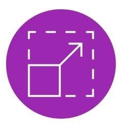 Scalability line icon vector