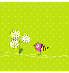 Scrapbook bird card template vector