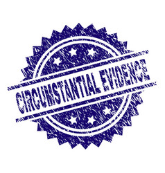 Scratched textured circumstantial evidence stamp vector