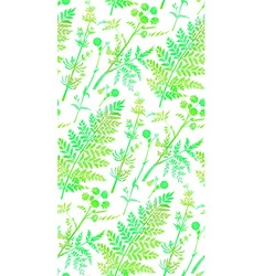 seamless pattern watercolor herbs and flowers vector image