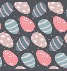 seamless pattern with easter eggs and dot vector image