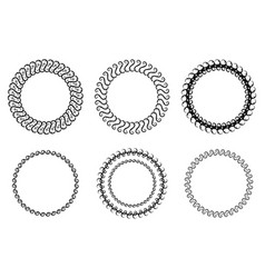 Set of round frames vector