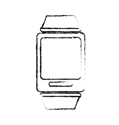 Smartwatch gadget icon image vector