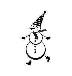 snowman icon simple vector image