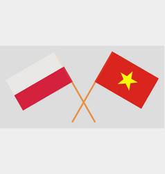 Socialist republic of vietnam and poland flags vector