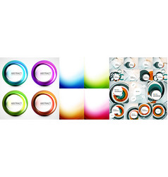 swirl and wave background set vector image