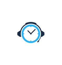 time podcast logo icon design vector image