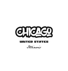united states chicago illinois city graffitti vector image