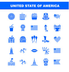 Usa solid glyph icon pack for designers and vector