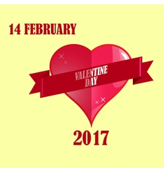 Valentine day february and greeting card vector image
