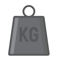 Weight symbol filled outline icon logistic vector