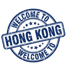 Welcome to hong kong vector