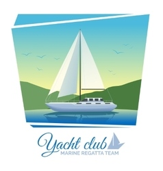 Yacht club poster vector