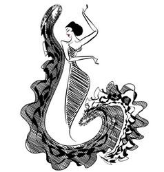 Black image of figure dancer vector