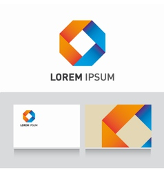 logo company card ribbons vector image