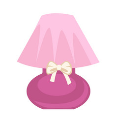 pink colored lamp vector image