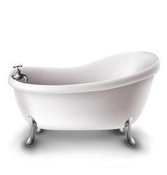 White bathtub vector image