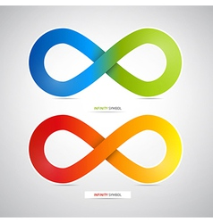 Abstract Colorful infinity symbols vector image vector image