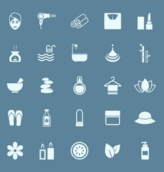 beauty color icons on blue background vector image
