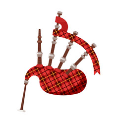 flat style scottish traditional musical instrument vector image