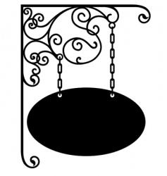 sign bracket vector image