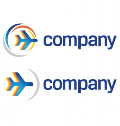 travel by air logo vector image vector image