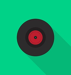 Vinyl record icon flat design vector image