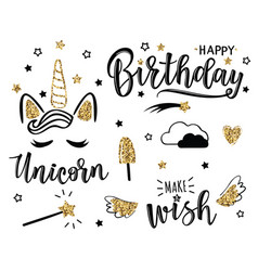 a happy birthday set vector image