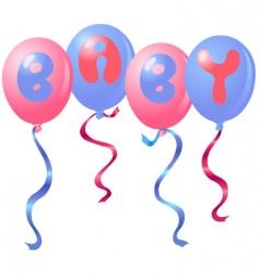 baby balloons vector image