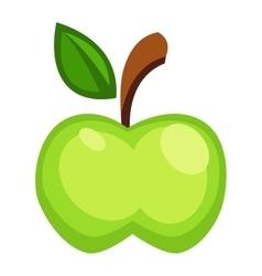 Fresh green apple icon vector image