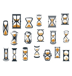 Hourglasses and egg timers set vector image vector image