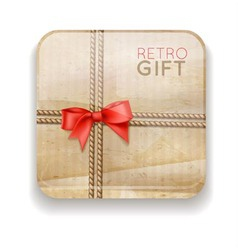 icon with retro gift vector image