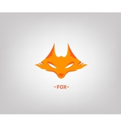 image of an fox head on white background vector image